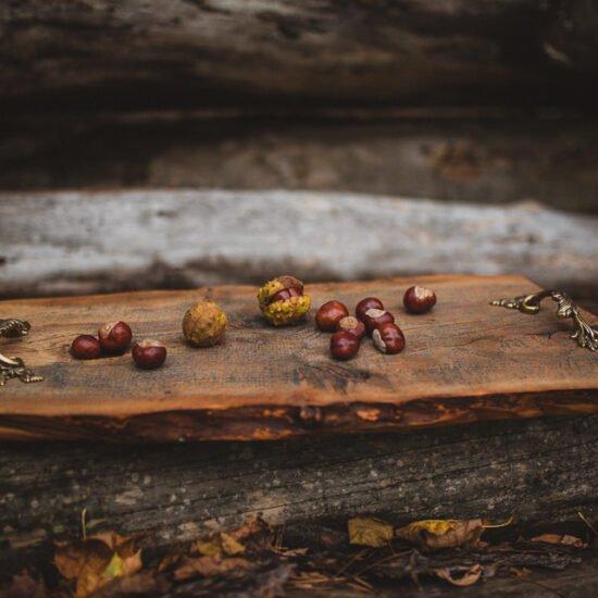 drewniana taca do serwowania