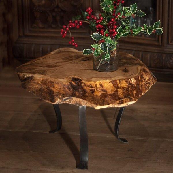 stolik kawowy z dębowego plastra