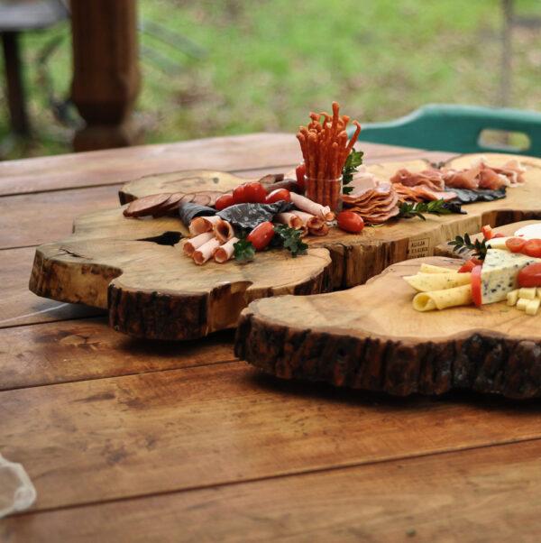 drewniana taca kasztanowa