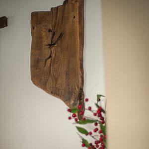zegar drewniany asymetryczny