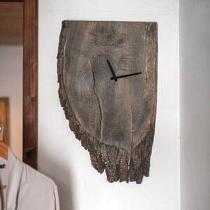 drewniany zegar dębowy