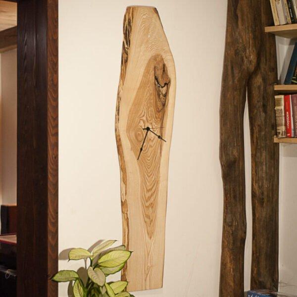 drewniany zegar jesionowy