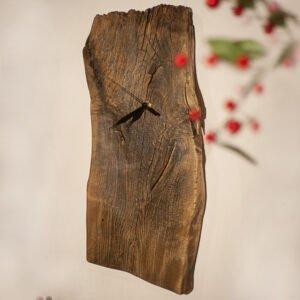 drewniany zegar olchowy