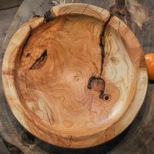 drewniana misa na bakalie