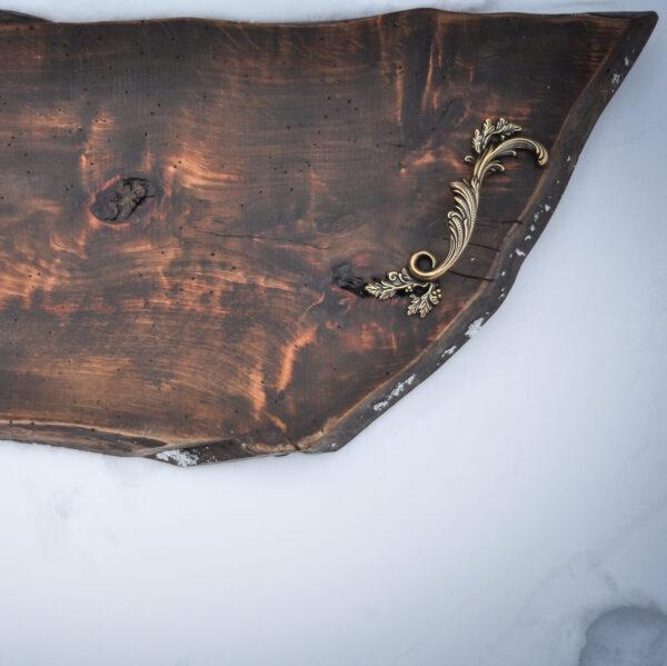 drewniana taca do serwowania vintage
