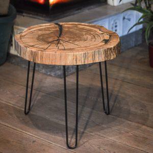 stolik kawowy z plastra dębowy