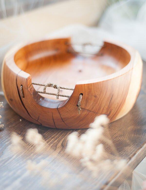 drewniana misa z jabłoni