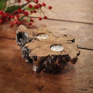 świecznik drewniany tealight