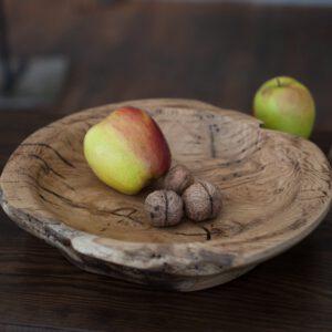 dębowa patera na owoce