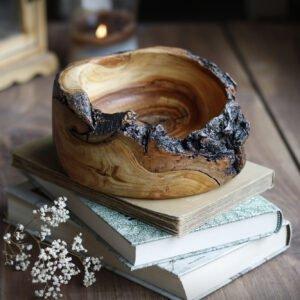 drewniana miseczka z jabłoni