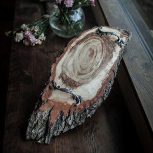 rustykalna taca drewniana