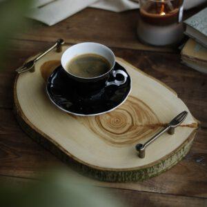 taca do serwowania drewniana